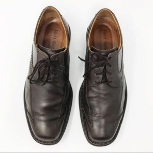 Josef Seibel Brown Leather Lace-Up Oxford Shoes 43